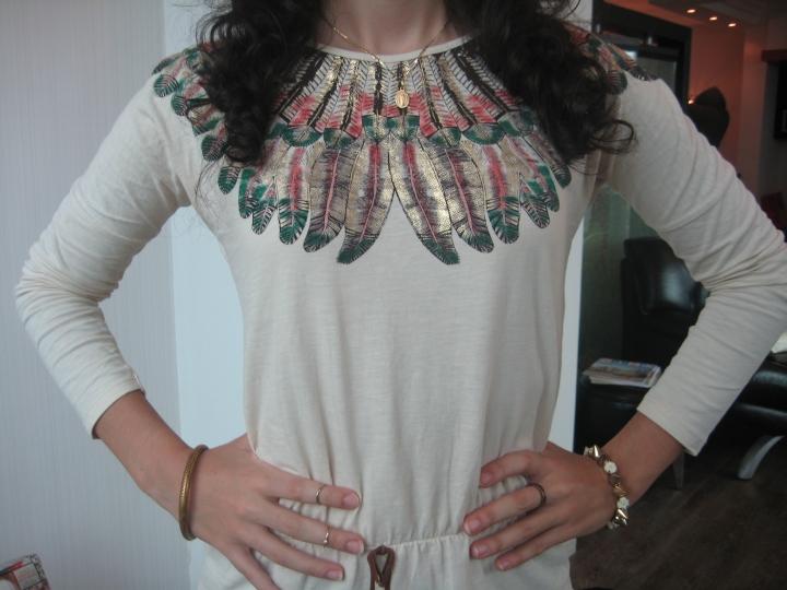 Zara Feather Long-sleeved Shirt