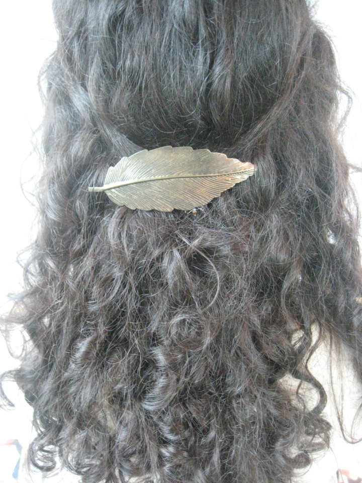 Claire's Gold Leaf Barrette