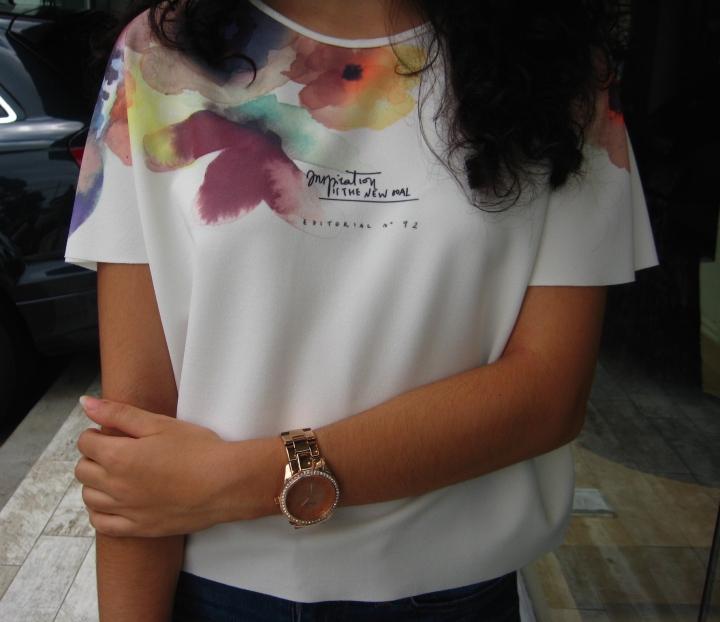 floral Zara shirt