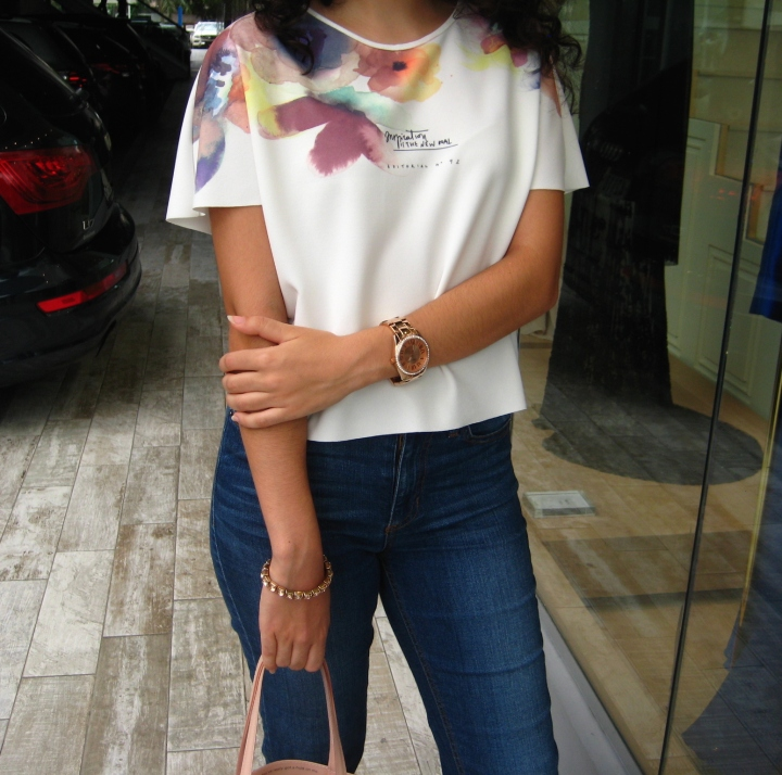 floral Zara outfit