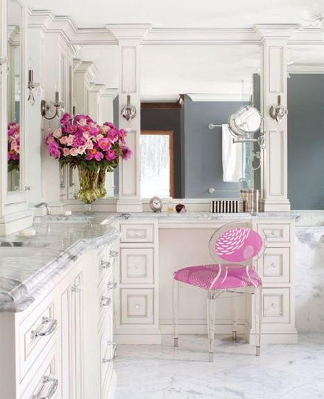 white-bathroom-marble-counter-tops-pink-decor